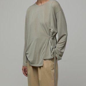 OAK + FORT // sage green blouse